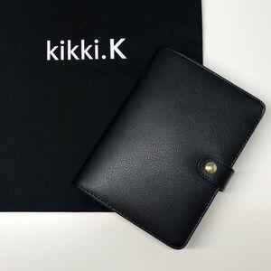 Kikki.k Black Leather Personal Size Planner